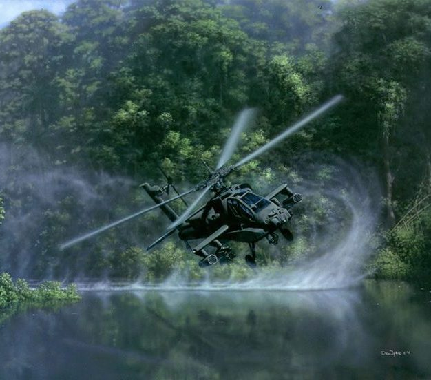 Apache over water