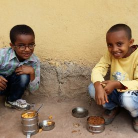 Ethiopian Boys in Compound
